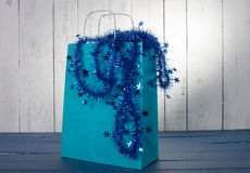 Shopping bag for Christmas Stock Image