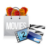 Shopping bag with cinema Stock Image