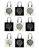 Shopping bag collection, art tree design Royalty Free Stock Photo