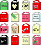 Shopping Bag Collection of Vectors. Collection of colorful shopping bag vectors isolated on white background Stock Images