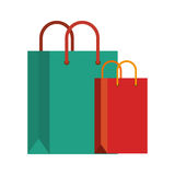 Shopping bag commercial icons. Vector illustration design Royalty Free Stock Images