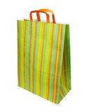 Shopping bag consumerism retail. Close up of shopping bag on white background with clipping path Stock Photography