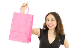 Shopping bag with copy space Stock Image