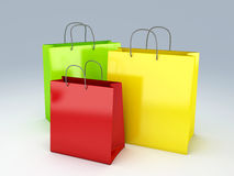 Shopping bag 3d Royalty Free Stock Photos