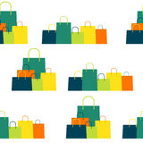 Shopping Bag Design Seamless Pattern Background.  Royalty Free Stock Photography