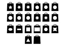 Shopping bag with different style icons. Vector Format Available AI royalty free illustration