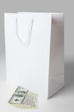 Shopping Bag and Dollar Royalty Free Stock Images
