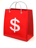 Shopping bag with dollar Stock Image