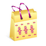 Shopping bag with easter motive Stock Images