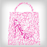 Shopping bag, fashion shoes concept Royalty Free Stock Photography