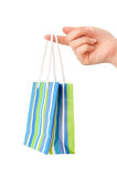 Shopping bag on the finger Royalty Free Stock Photo