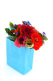 Shopping bag with flowers Stock Images