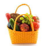 Shopping bag with daily food Royalty Free Stock Image