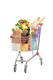 A shopping bag full with groceries Royalty Free Stock Photography