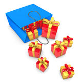 Shopping Bag Gifts Stock Images