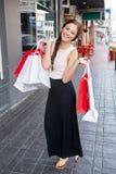 Shopping bag girl portrait Royalty Free Stock Photo