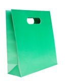 Shopping bag, green color. On white background Royalty Free Stock Photography