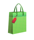 Shopping bag. In green color for gifts Vector Illustration