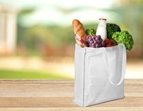 Shopping Bag. Bag Groceries Environment reusable Textile Fruit Stock Images