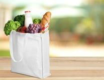Shopping Bag. Bag Groceries Environment reusable Textile Fruit Stock Photo