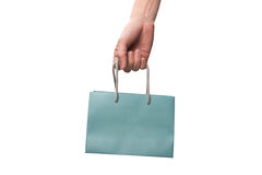 Shopping bag in hand Stock Photography