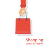 Shopping bag in hand Stock Image