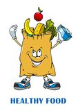 Shopping bag with healthy food Royalty Free Stock Photos