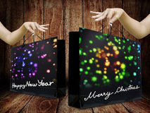 Shopping bag for holiday event Royalty Free Stock Image