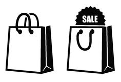 Shopping Bag Icon Stock Photo