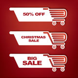 Shopping bag icon with Christmas sales Royalty Free Stock Photography