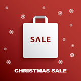 Shopping bag icon with Christmas sales Stock Images