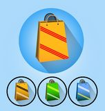 Shopping bag icon vector illustration isolated on background royalty free illustration