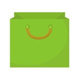 Shopping bag icon flat style. Paper bags  on a white background. Gift package. Vector Illustration Royalty Free Stock Photography