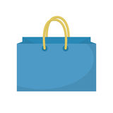 Shopping bag icon flat style. Paper bags  on a white background. Gift package. Vector Illustration Stock Photos