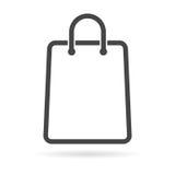 Shopping bag icon royalty free illustration
