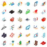 Shopping bag icons set, isometric style Royalty Free Stock Photo