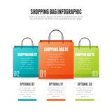 Shopping Bag Infographic Stock Photography