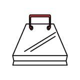 Shopping bag isolated icon. Illustration design Stock Photography