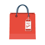 Shopping bag isolated vector Royalty Free Stock Photos