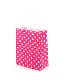 Shopping bag isolated on white background. Pink shopping bag isolated on white background royalty free stock images