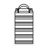 Shopping bag isometric icon Royalty Free Stock Images