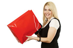Shopping bag joy Royalty Free Stock Photography