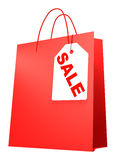 Shopping bag with label SALE Stock Photography