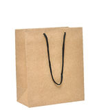 Shopping bag made from brown recycled paper Stock Image