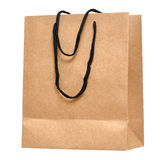 Shopping bag made from brown recycled paper Royalty Free Stock Photo