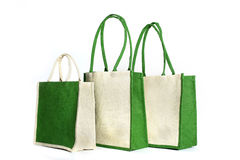 Shopping bag made out of recycled Hessian sack. еру Shopping bag made out of recycled Hessian sack Stock Image
