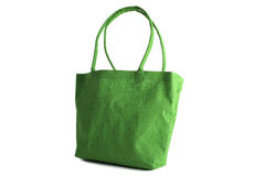Shopping bag made out of recycled Hessian sack Royalty Free Stock Photos