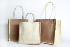 Shopping bag made out of recycled Hessian sack Stock Photo