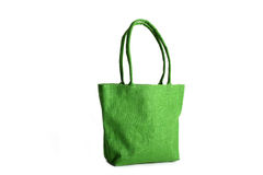 Shopping bag made out of recycled Hessian sack Stock Image