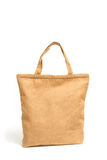 Shopping bag made out of recycled sack cloth. Isolate Royalty Free Stock Photo